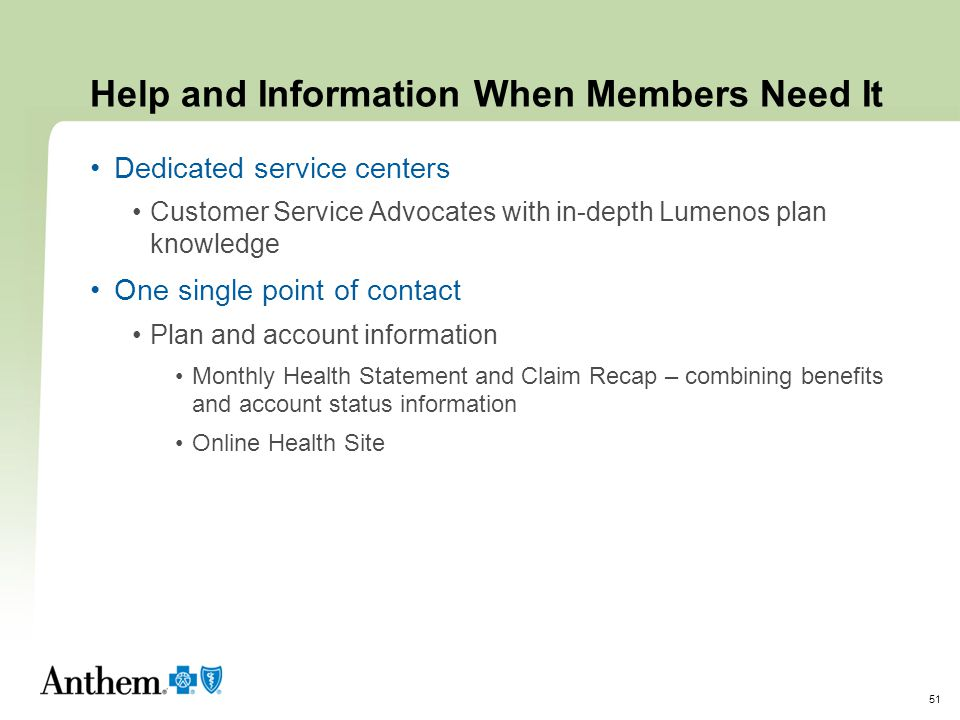 Help and Information When Members Need It