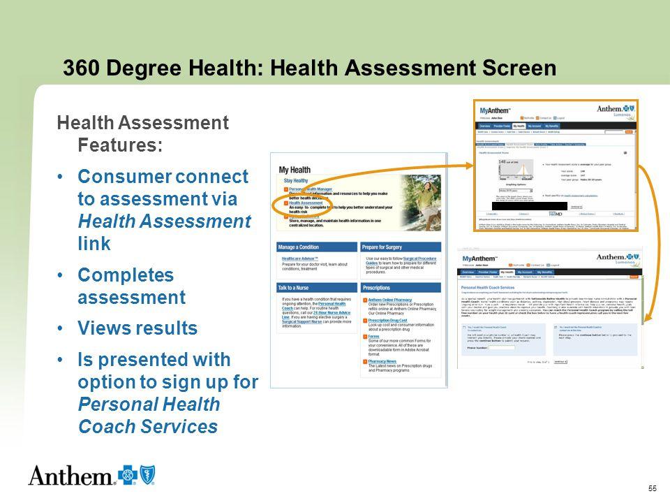 360 Degree Health: Health Assessment Screen