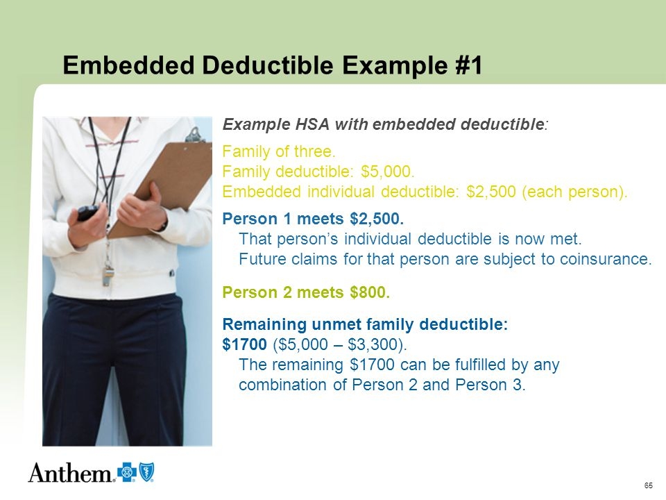 Embedded Deductible Example #1