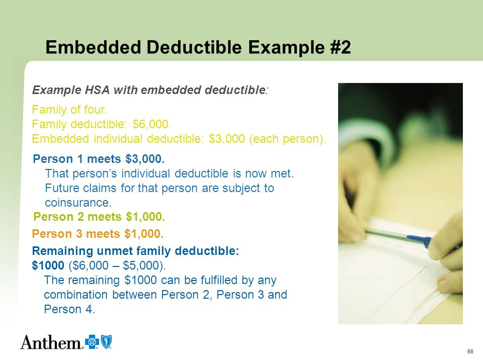 Embedded Deductible Example #2