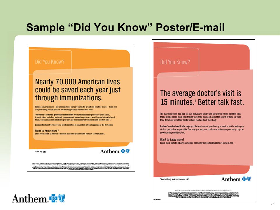 Sample Did You Know Poster/E-mail
