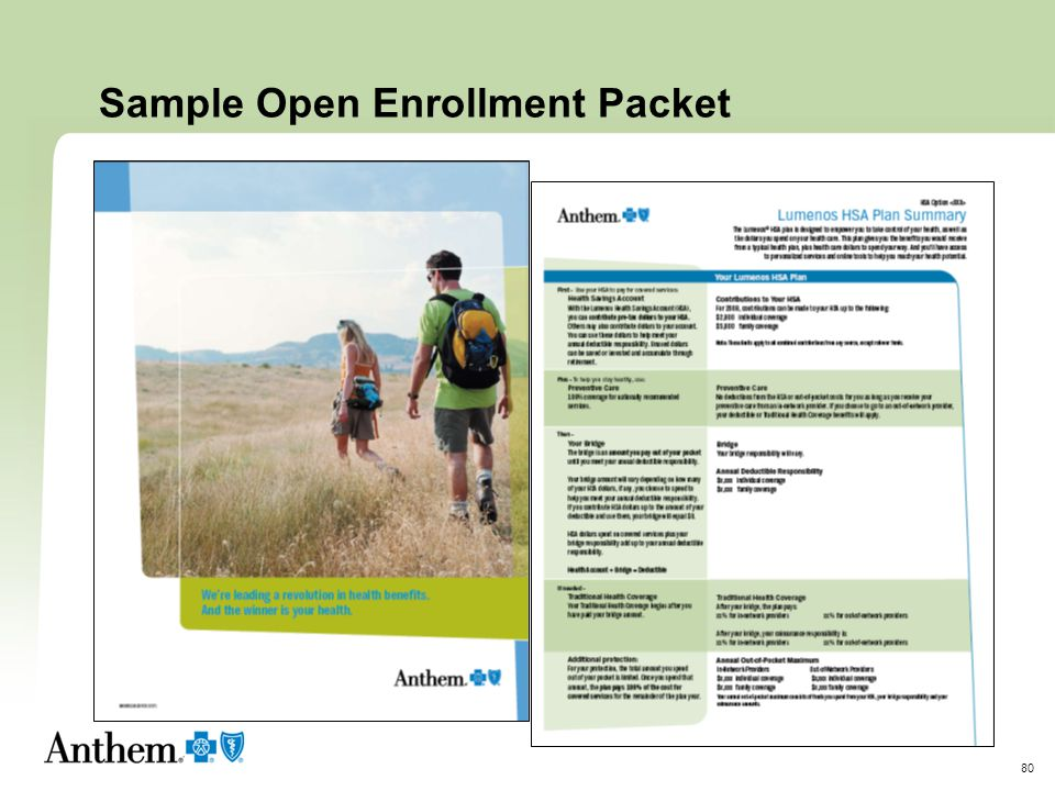Sample Open Enrollment Packet