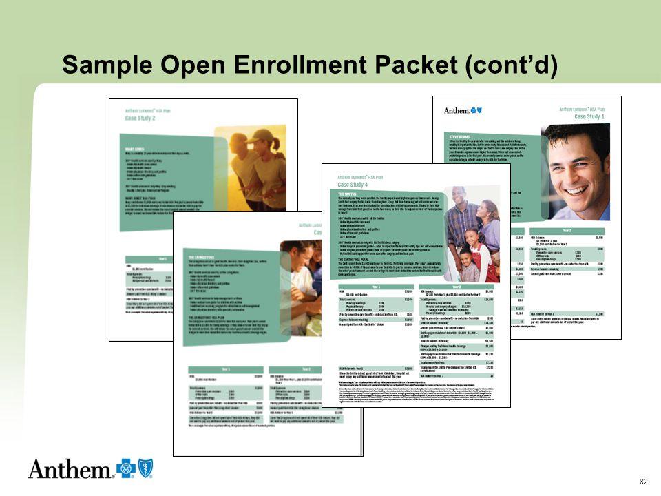 Sample Open Enrollment Packet (cont'd)