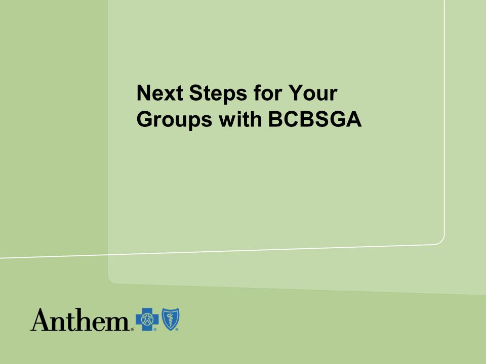 Next Steps for Your Groups with BCBSGA