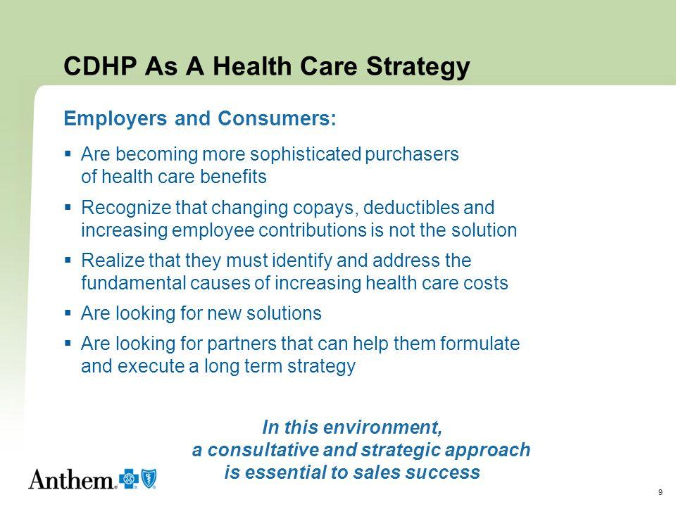CDHP As A Health Care Strategy
