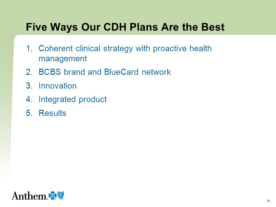 Five Ways Our CDH Plans Are the Best