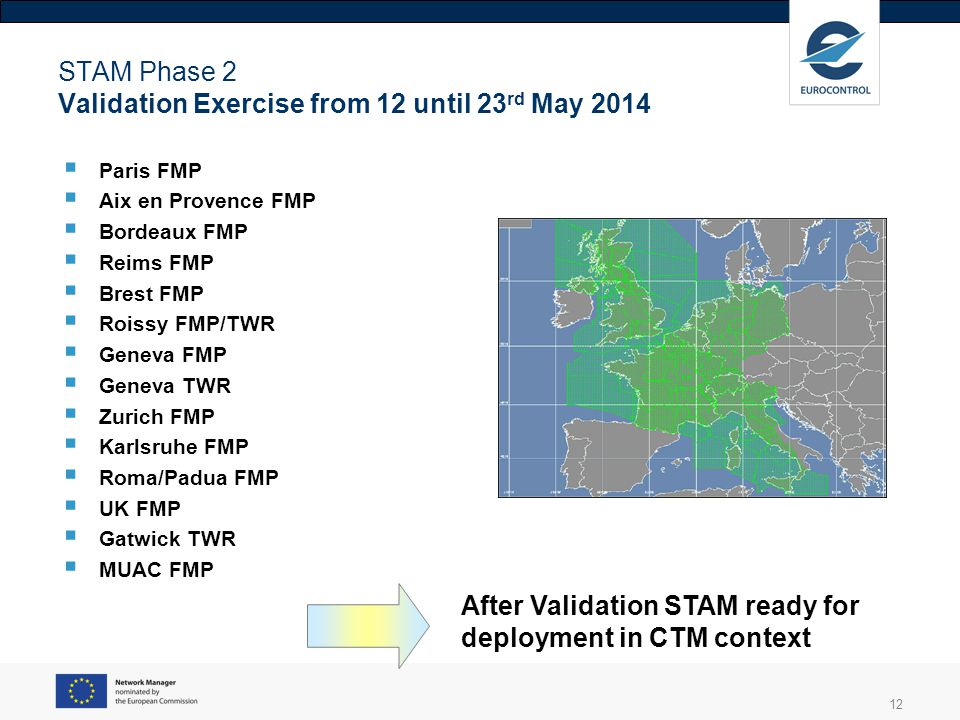 STAM Phase 2 Validation Exercise from 12 until 23rd May 2014