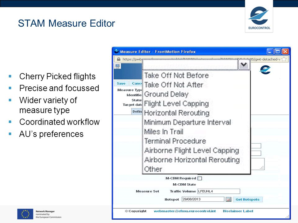 STAM Measure Editor Cherry Picked flights Precise and focussed