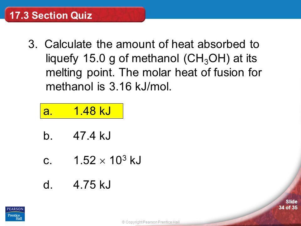 17.3 Section Quiz