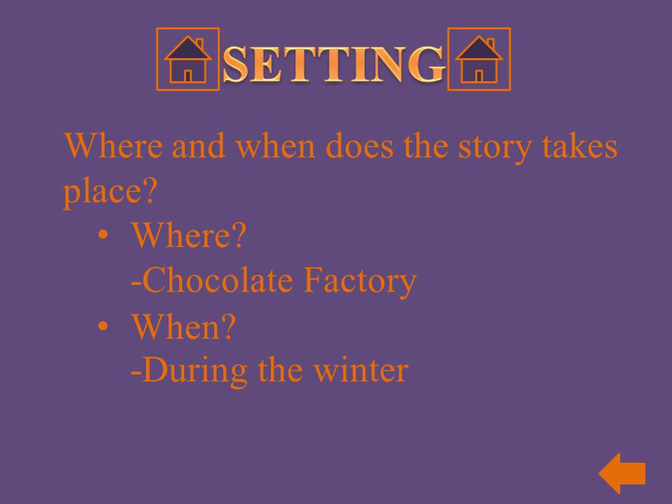 SETTING Where and when does the story takes place Where