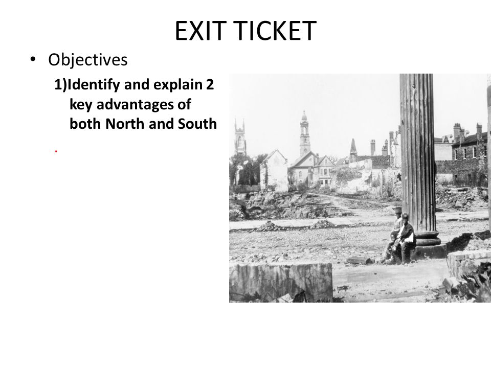 EXIT TICKET Objectives