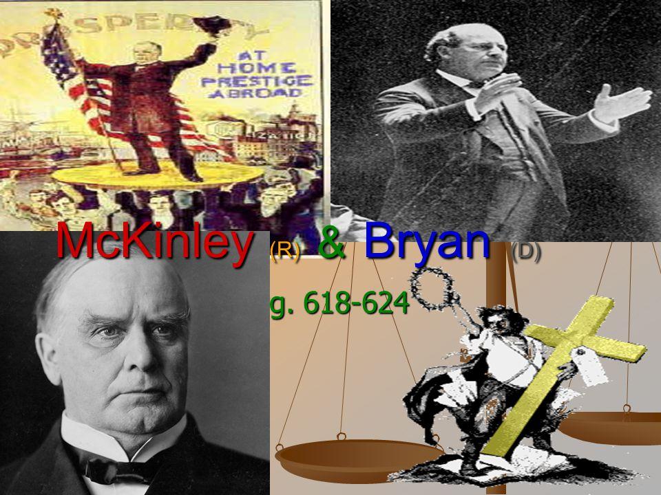 McKinley (R) & Bryan (D)