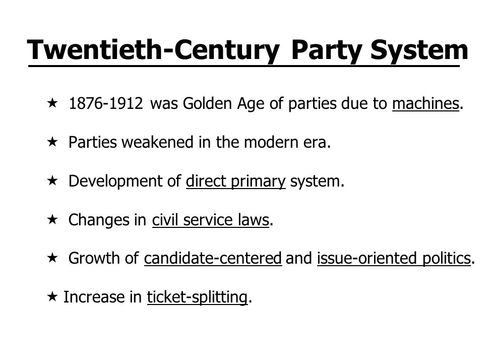 Twentieth-Century Party System