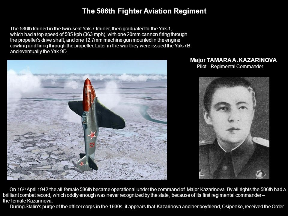 The 586th Fighter Aviation Regiment