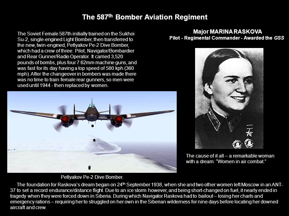 The 587th Bomber Aviation Regiment