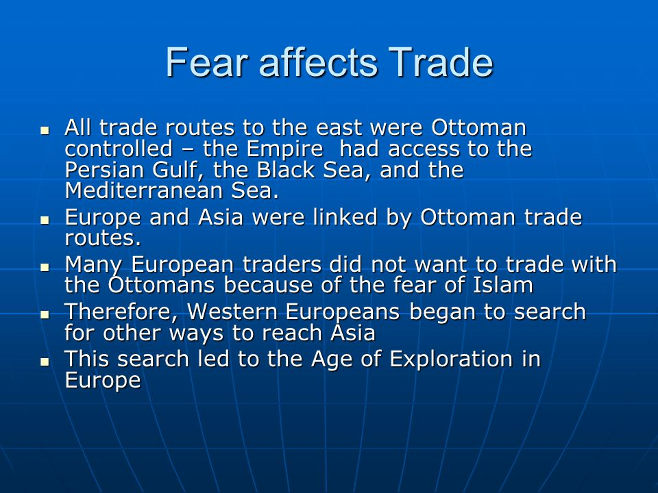 Fear affects Trade