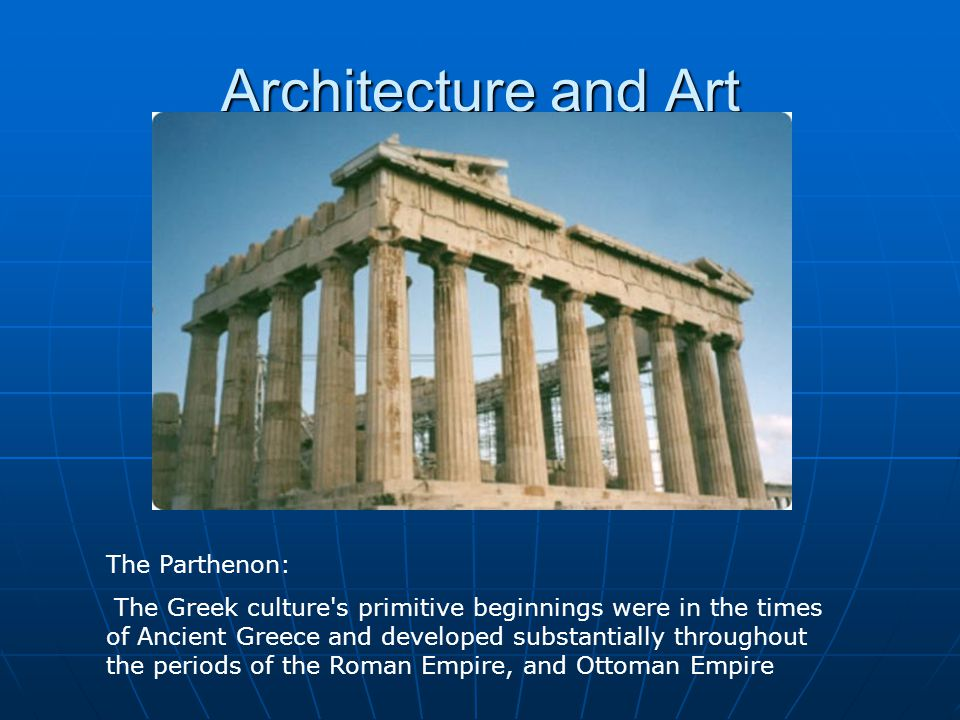 Architecture and Art The Parthenon: