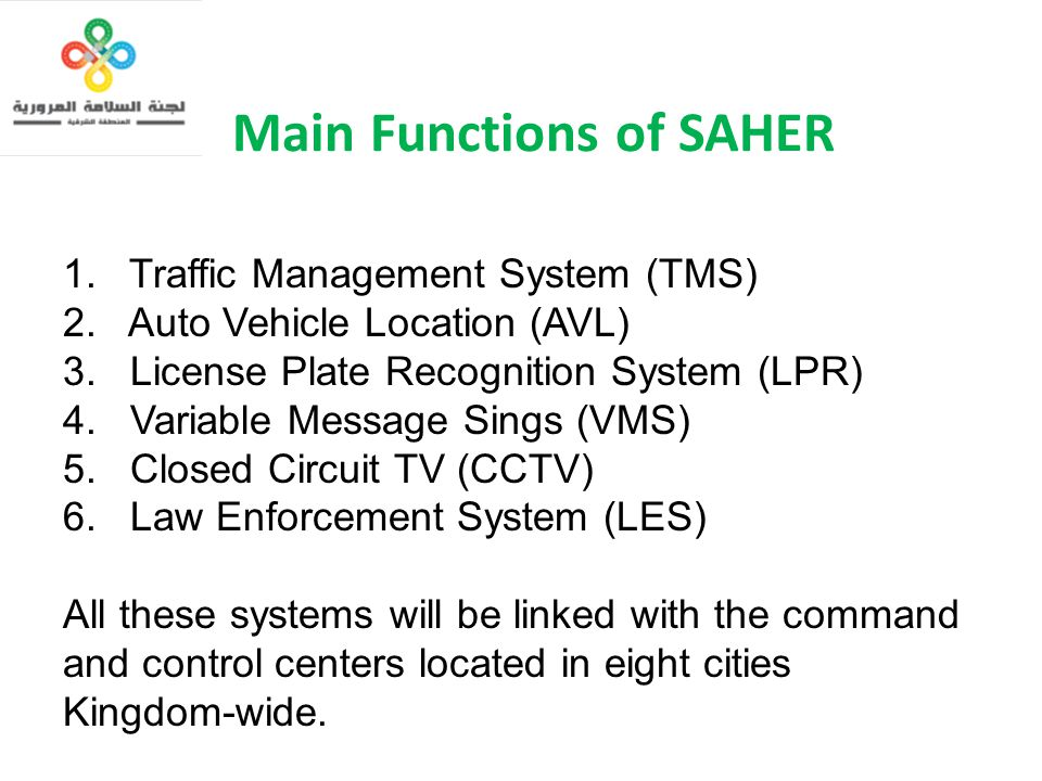 Main Functions of SAHER