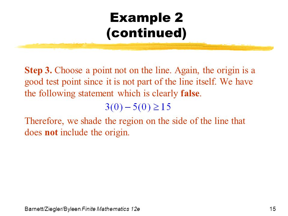Example 2 (continued)