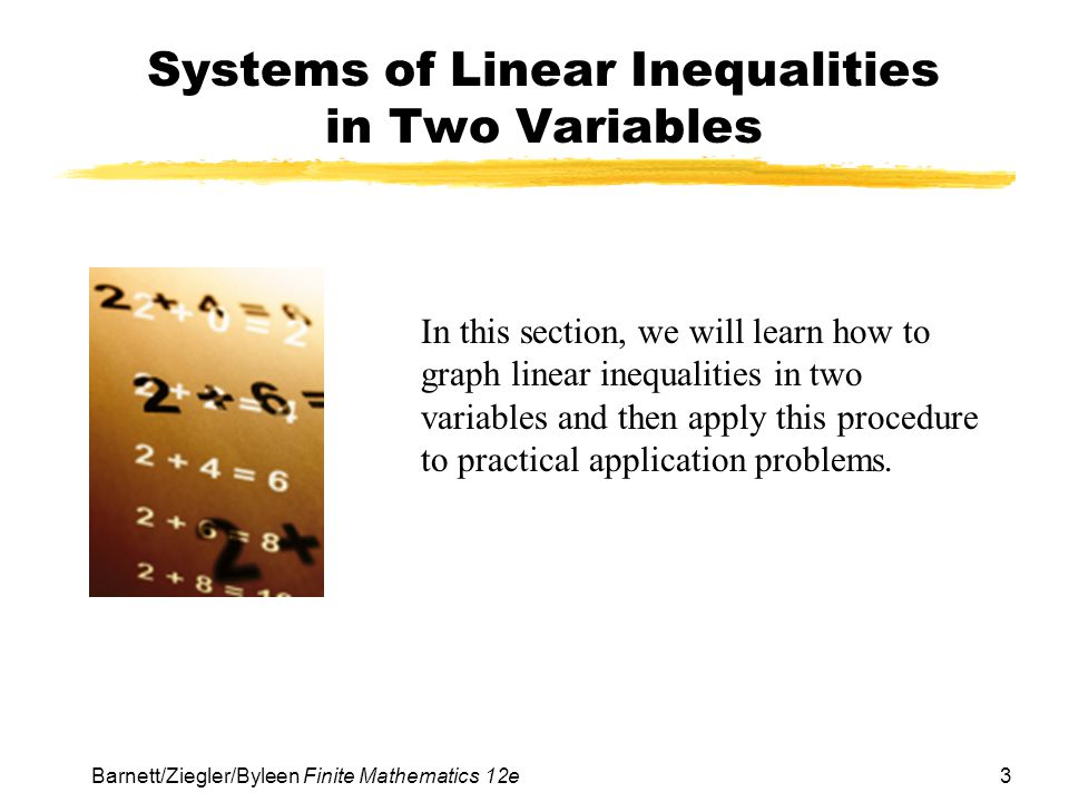 Systems of Linear Inequalities in Two Variables