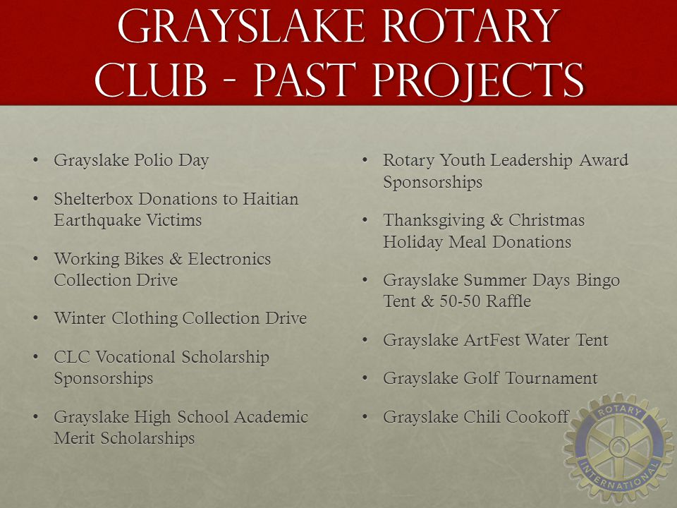 Grayslake Rotary Club - Past Projects