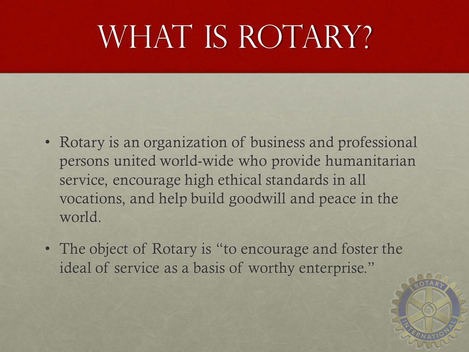 What is Rotary