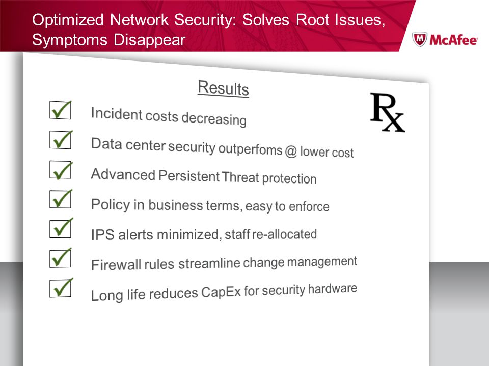 Optimized Network Security: Solves Root Issues, Symptoms Disappear