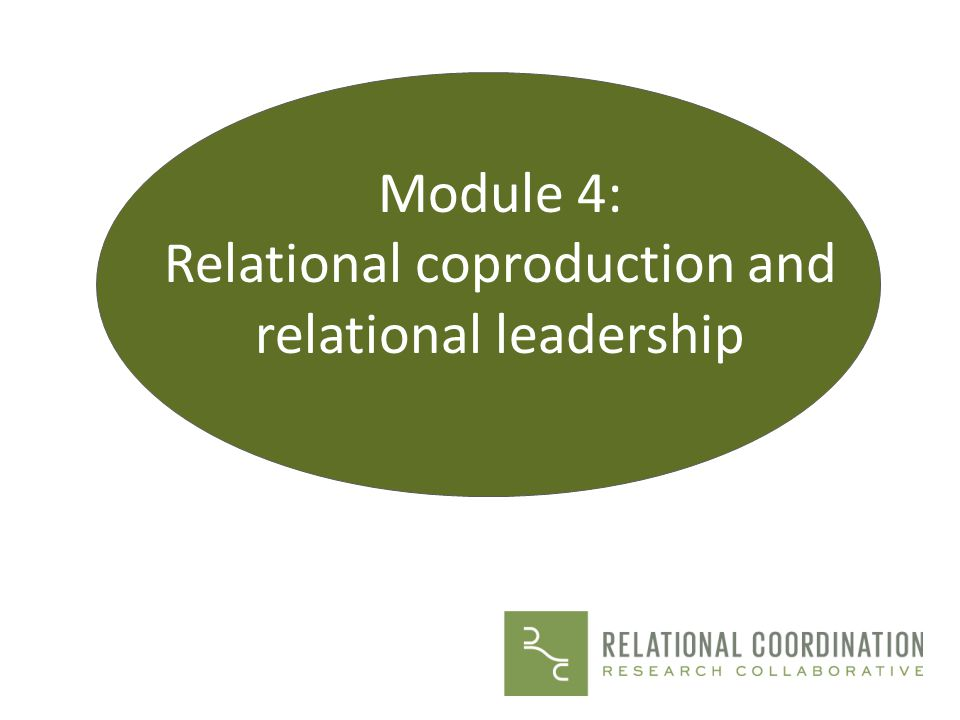 Relational coproduction and relational leadership