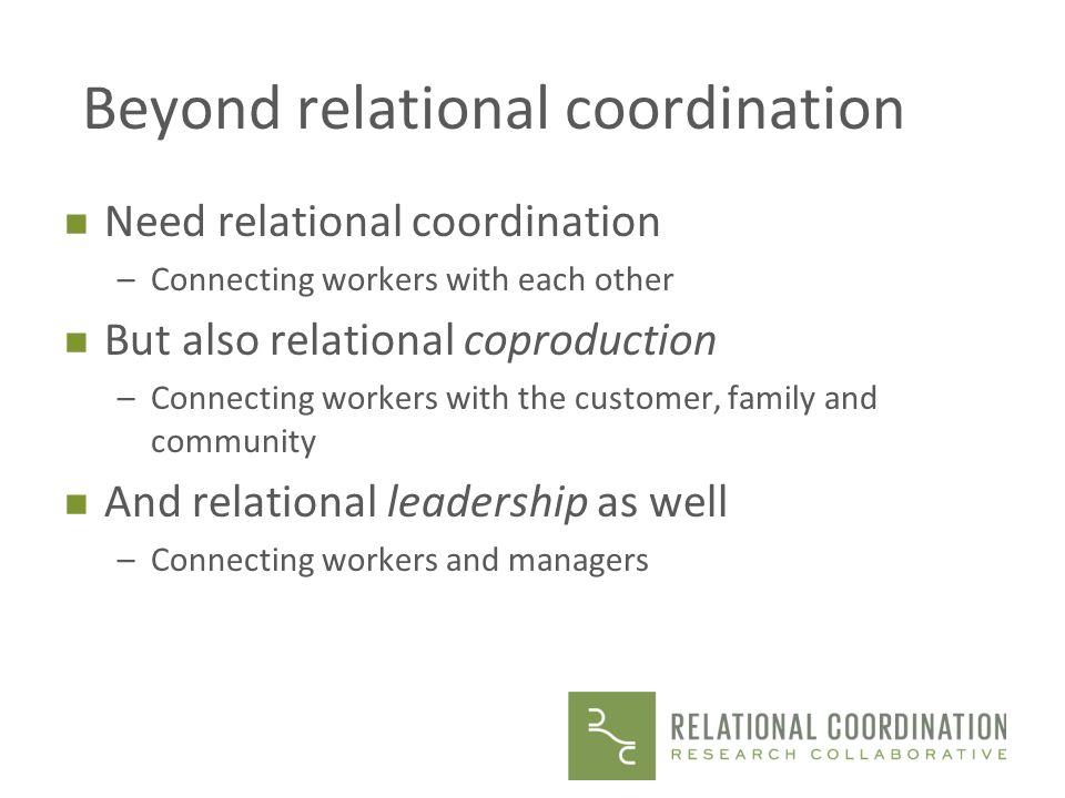 Beyond relational coordination