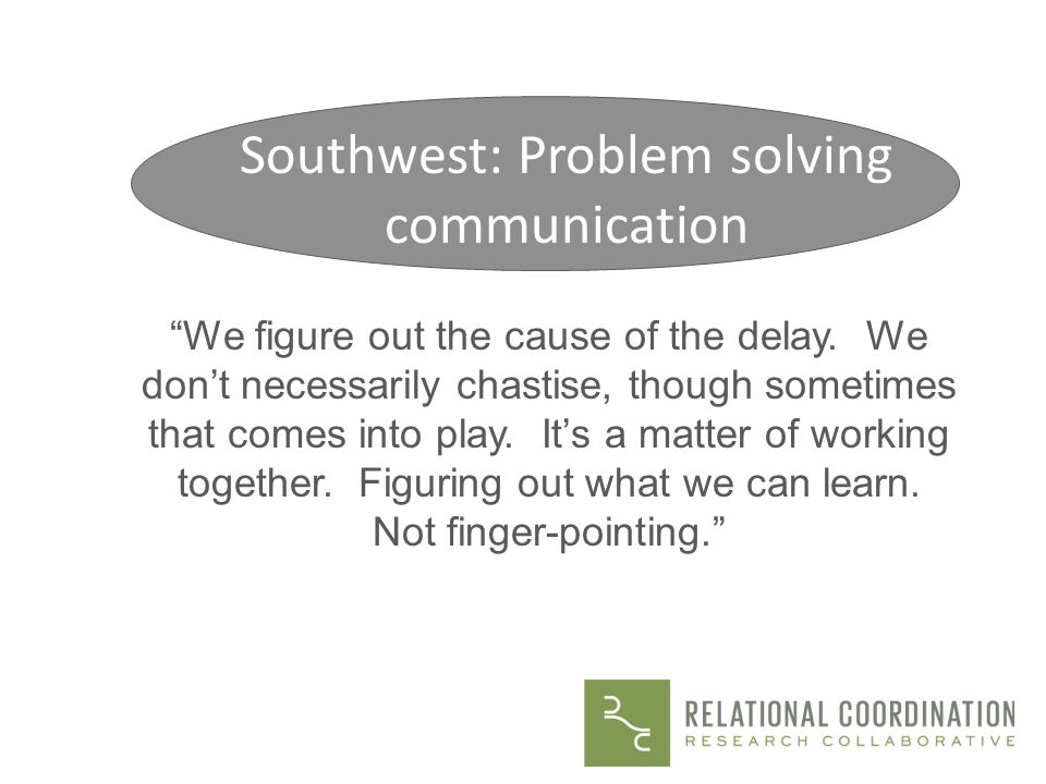 Southwest: Problem solving communication