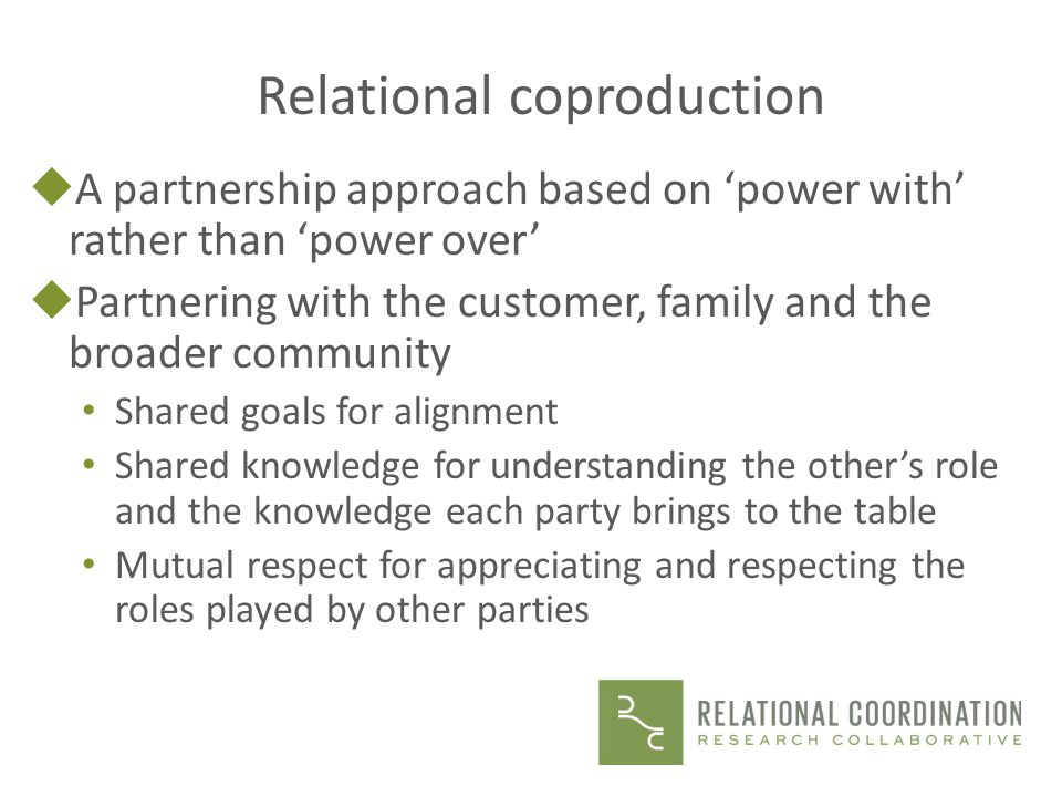 Relational coproduction