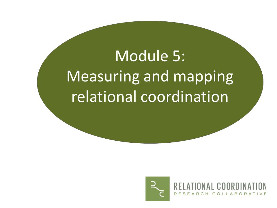 Measuring and mapping relational coordination