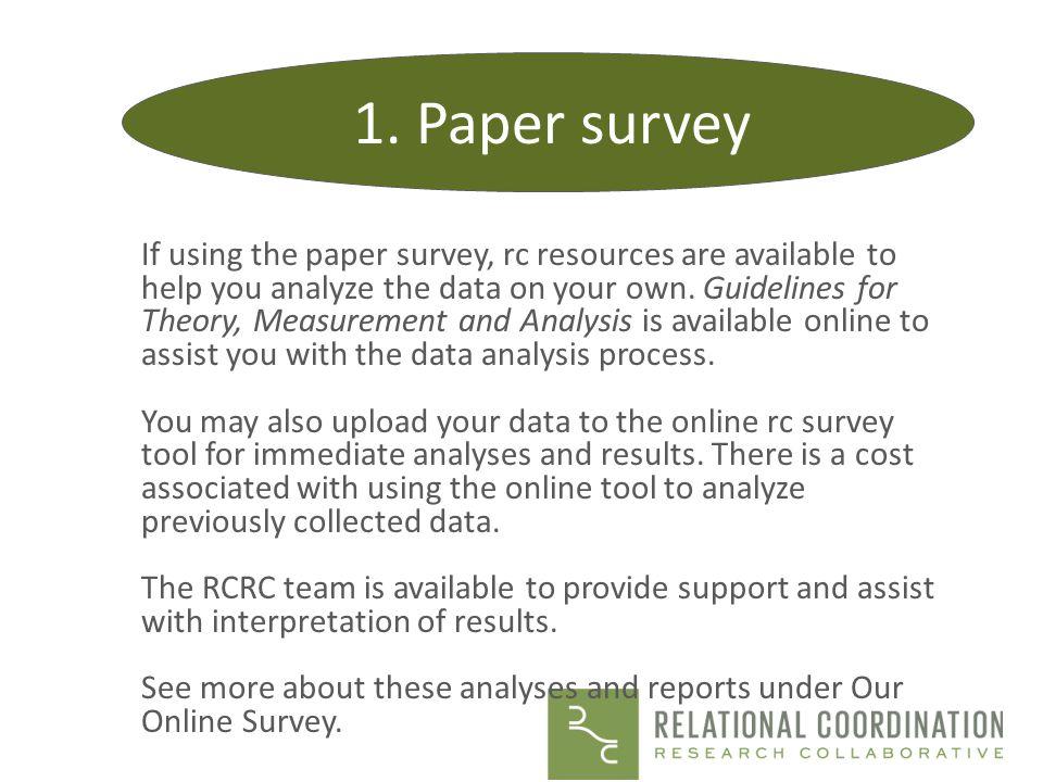 1. Paper survey