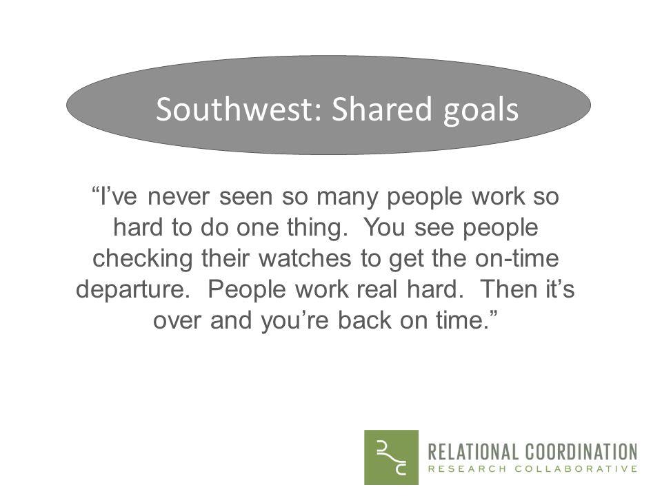 Southwest: Shared goals
