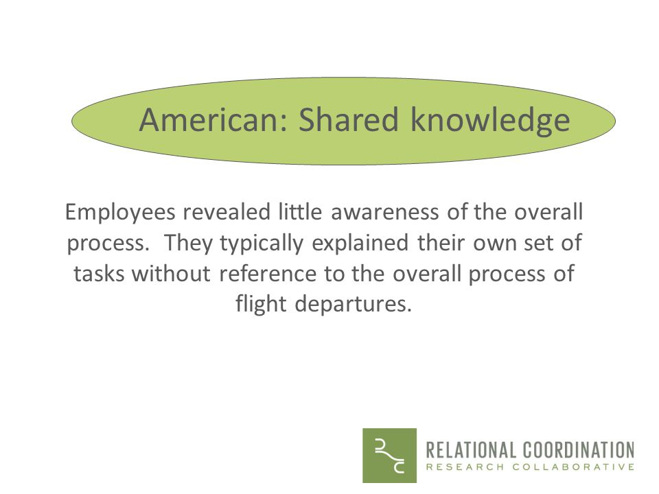 American: Shared knowledge