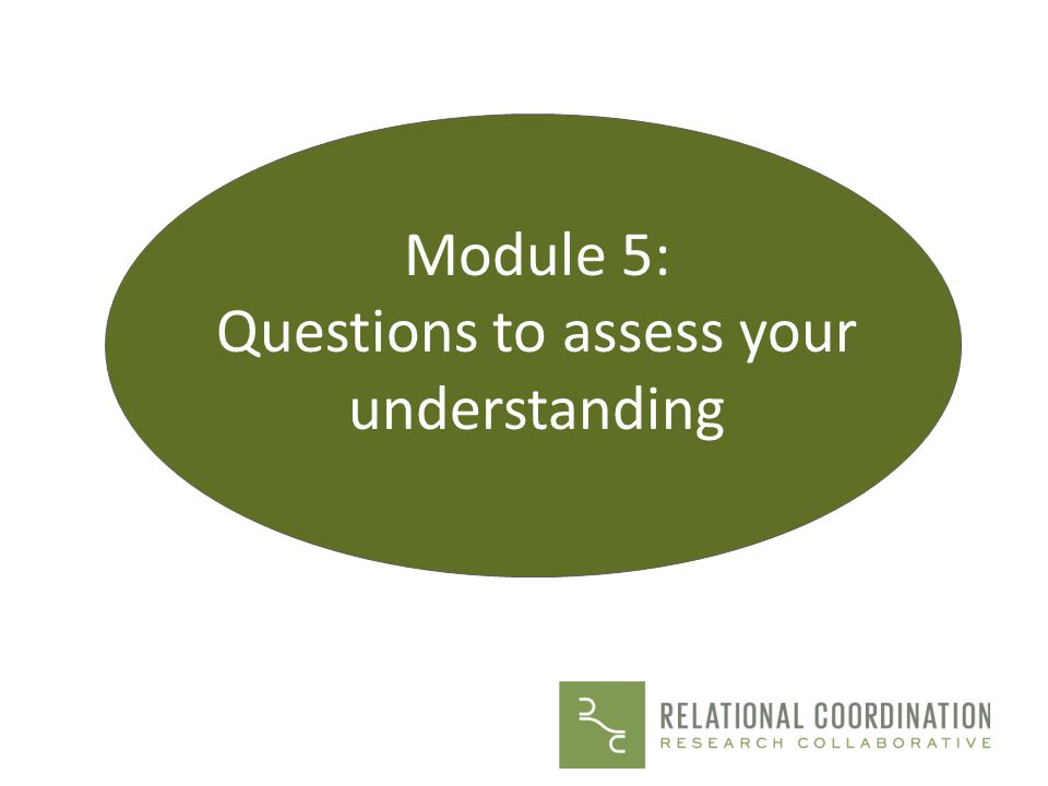 Questions to assess your understanding