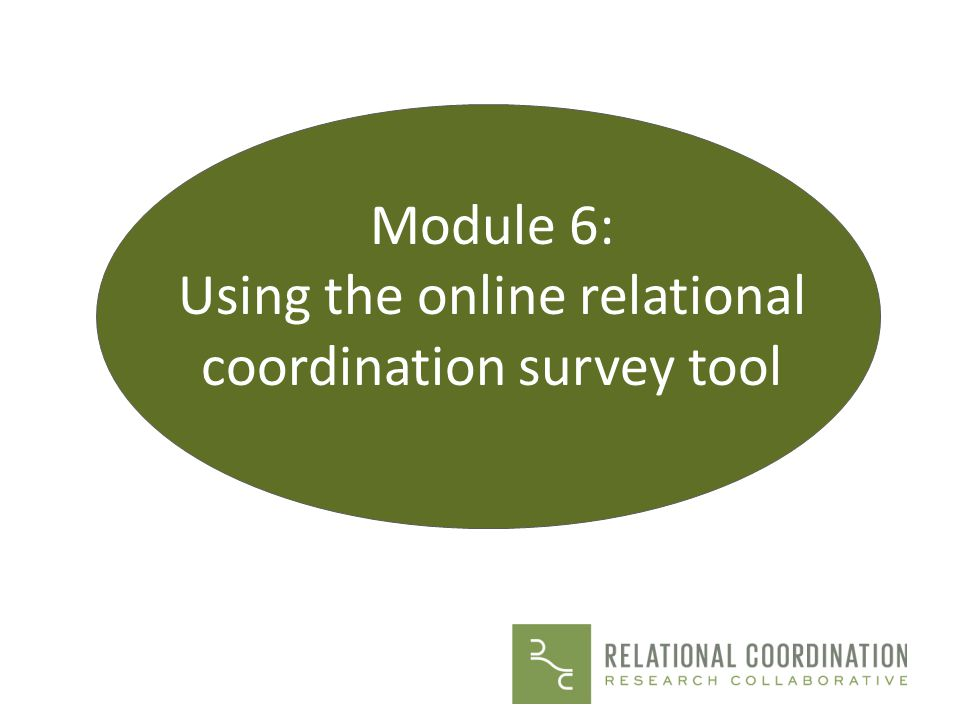 Using the online relational coordination survey tool