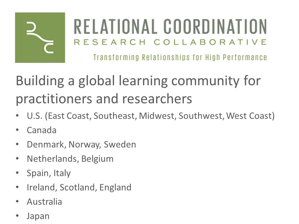 Building a global learning community for practitioners and researchers