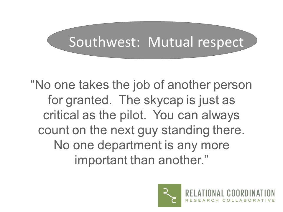 Southwest: Mutual respect