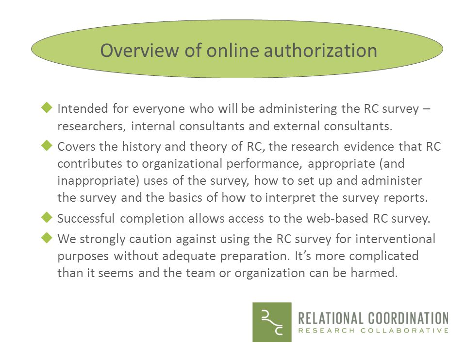 Overview of online authorization