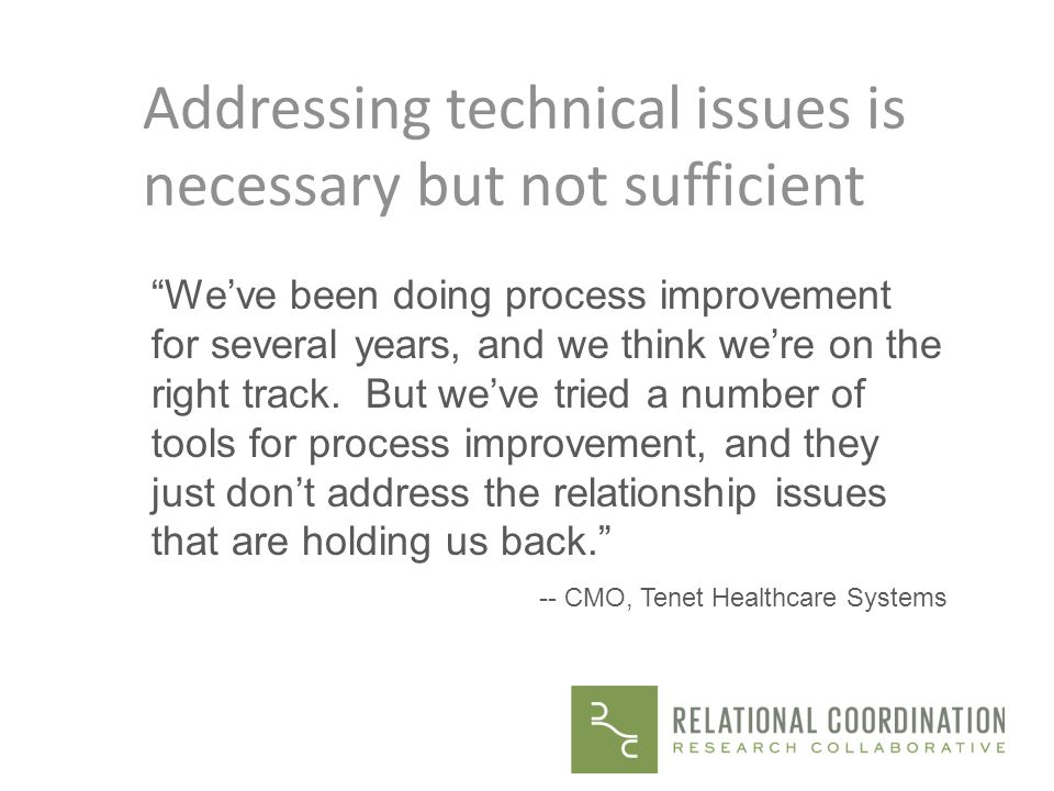 Addressing technical issues is necessary but not sufficient