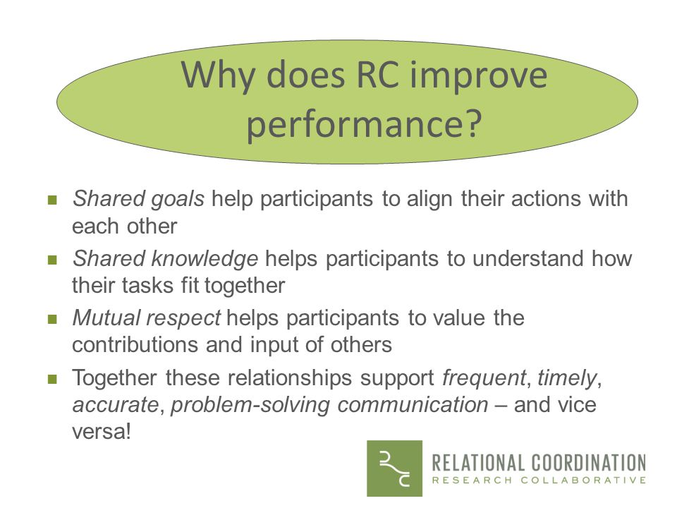 Why does RC improve performance