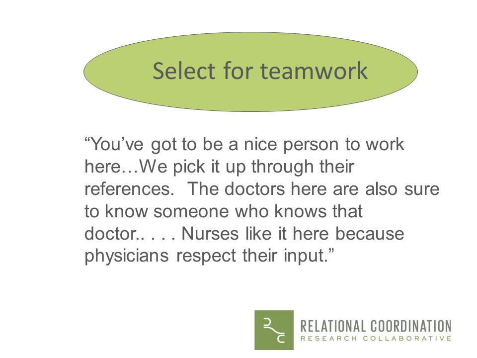 Select for teamwork