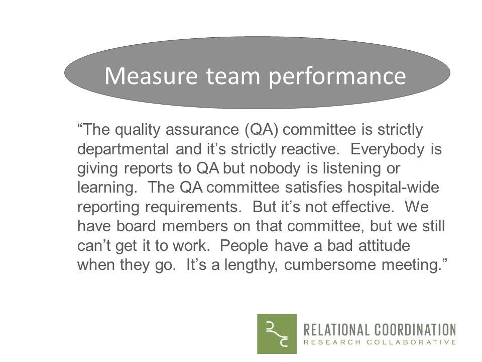 Measure team performance