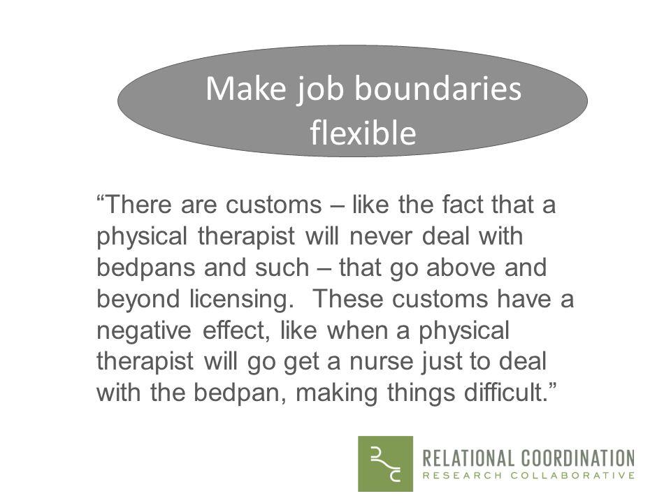 Make job boundaries flexible