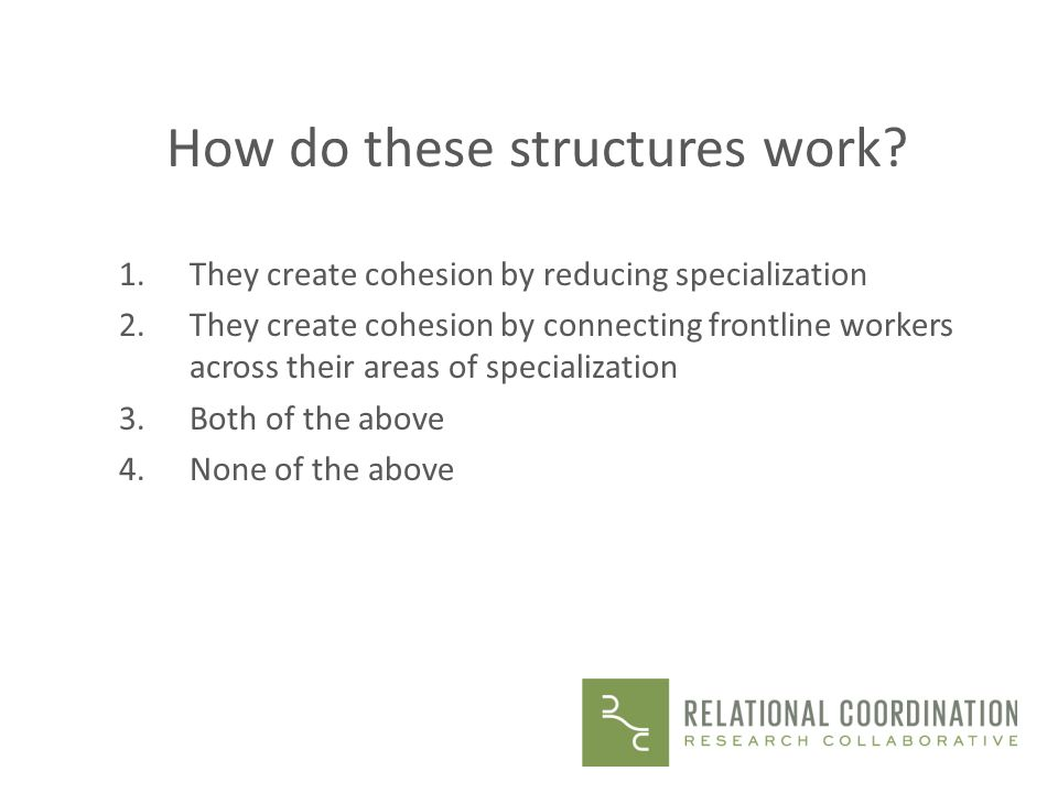 How do these structures work