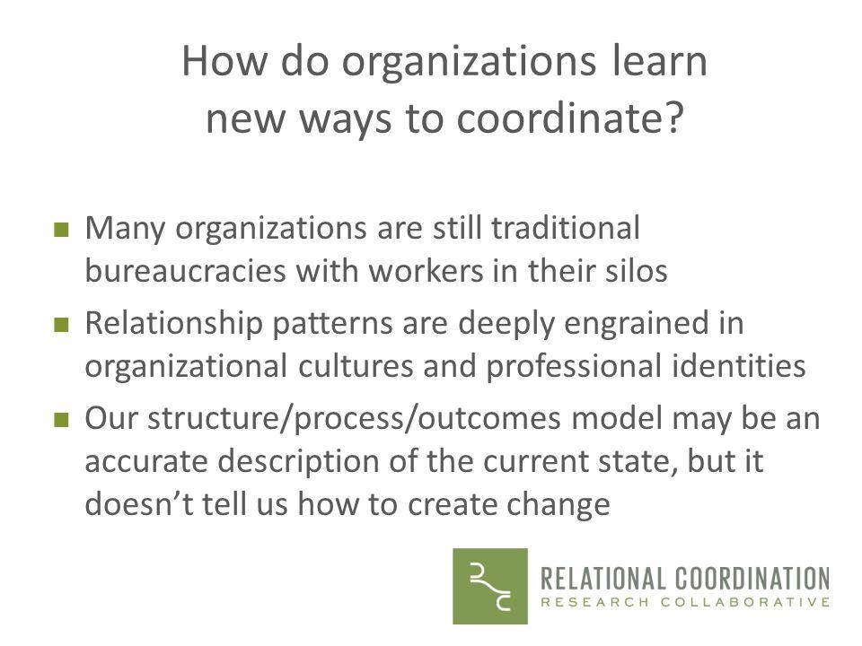 How do organizations learn