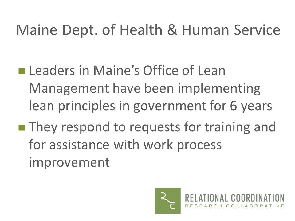Maine Dept. of Health & Human Service