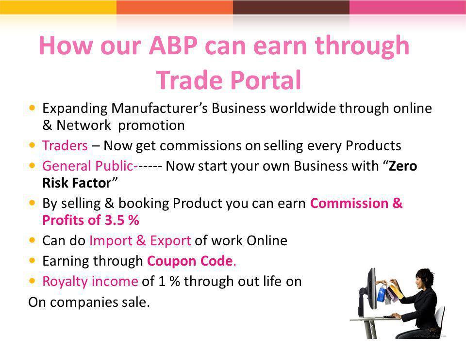 How our ABP can earn through Trade Portal