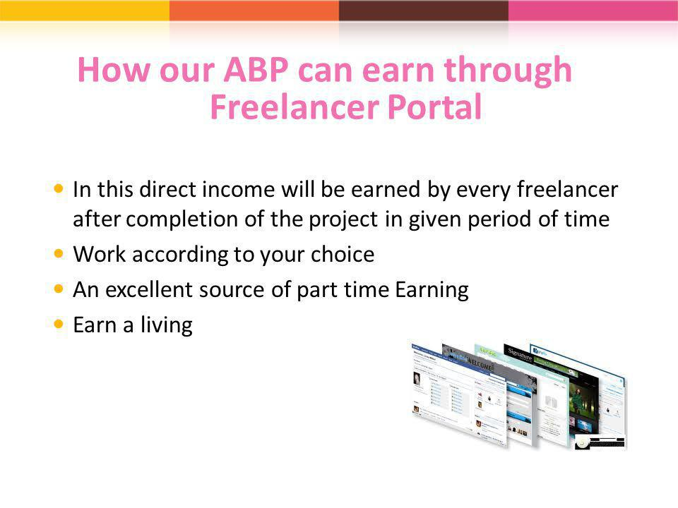 How our ABP can earn through Freelancer Portal